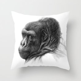 Gorilla G038b schukina Throw Pillow