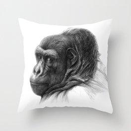 Gorilla G038b schukina Throw Pillow