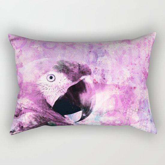 Crazy Parrot Rectangular Pillow