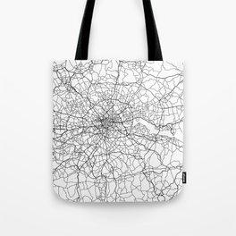 London England Street Map Minimal Tote Bag