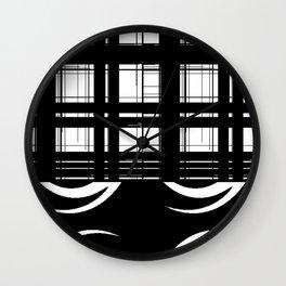 black white Wall Clock