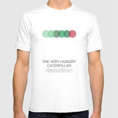 The Very Hungry Caterpillar LARGE White Mens Fitted Tee