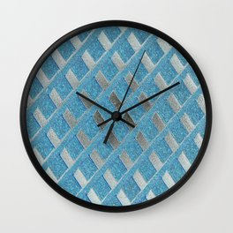 Blue Grill Abstract Wall Clock