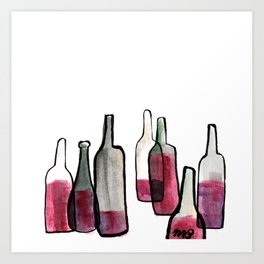 Wine Bottles 2 Art Print
