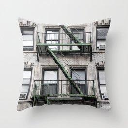 NY Green Throw Pillow