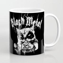 Grim Black Metal Corpse Paint Racoon! Coffee Mug
