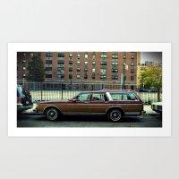 Oldsmobile Station Wagon Art Print
