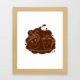 Addicted Coffee Framed Art Print