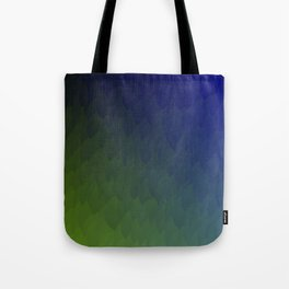 Ombre purple blue green peacock flames Tote Bag