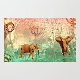 Elephants in the Ballroom Rug