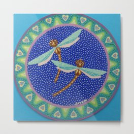 Dance of the Dragonflies Metal Print