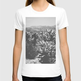 Chollo Cactus Garden (Black + White) T-shirt