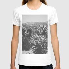 Chollo Cactus Garden (Black + White) T-shirt