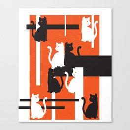 Cat in De Stijl - Halloween Edition Canvas Print