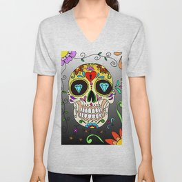 amazing sugar skull lasoffittadiste Unisex V-Neck