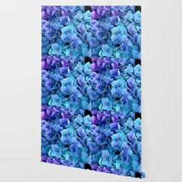 Purple Blue hydrangea Wallpaper