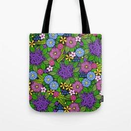 Wild Wallflowers (Color) Tote Bag