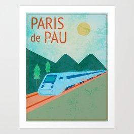 Paris to Pau Art Print