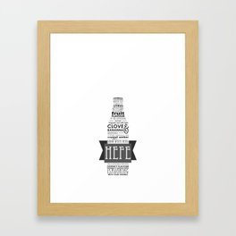 A beer is worth a thousand words - HEFE Framed Art Print