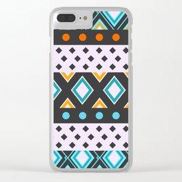 Geometric fun Clear iPhone Case