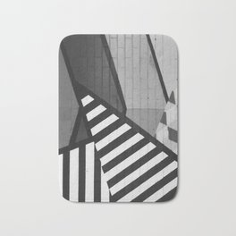Abstract Art (Black and White) Bath Mat