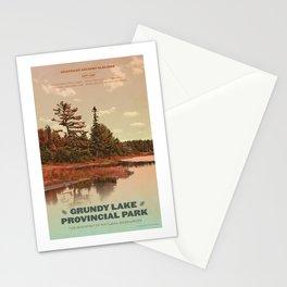 Grundy Lake Provincial Park Poster Stationery Cards