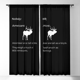 Adult Deer Are As Tall As A Bicycle for Deer Hunter Blackout Curtain
