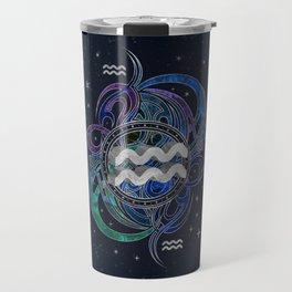 Aquarius Zodiac Sign Air Element Travel Mug