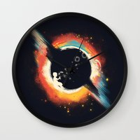 ed sheeran Wall Clocks featuring Void (introversive ed) by Picomodi