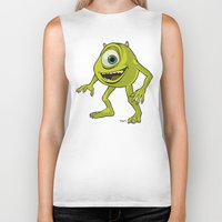 monsters inc Biker Tanks featuring Monsters, Inc. | Mike Wazowski by Brave Tiger Designs