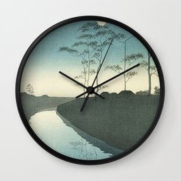 Silent Forest at Night Wall Clock
