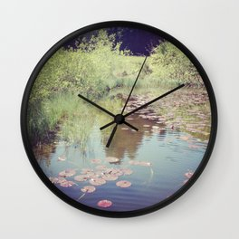 Lillypads Wall Clock