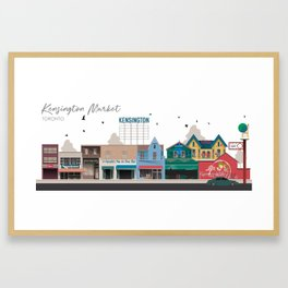 Kensington Market 2 - Toronto Neighbourhood Framed Art Print