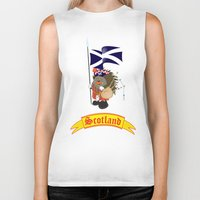 scotland Biker Tanks featuring Greetings from Scotland by mangulica