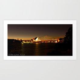 Sydney Harbour Evening Art Print