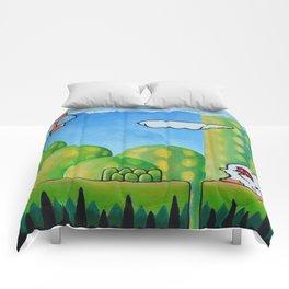 "'Orap' 12""x12"" Acrylic and Marker on Canvas 2013 Dan Gribben Comforters"
