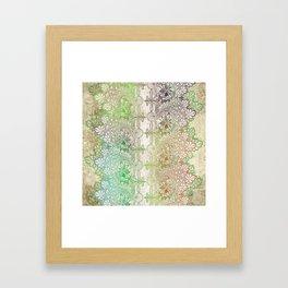 big green leaf lace Framed Art Print