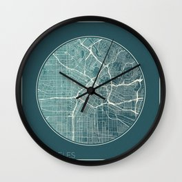 Los Angeles Map Planet Wall Clock