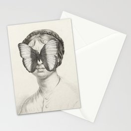 Girl with a Butterfly Stationery Cards