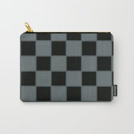 Gray & Black Chex Carry-All Pouch