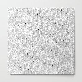 Little Escher's Building Blocks Metal Print