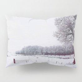 Winter landscape in the Netherlands - Digital Art Pillow Sham