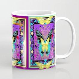 Lemon  Butterflies Morphing Western Style Abstract Coffee Mug
