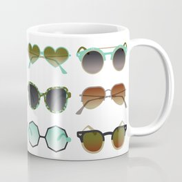 Sunglasses Collection – Mint & Tan Palette Coffee Mug