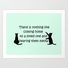 Coming Home to a Cat Art Print