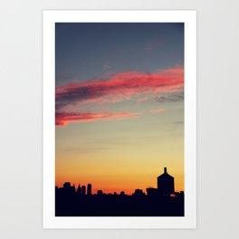 summer skylines Art Print