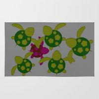 turtles Area & Throw Rugs featuring Turtles  by MillennialBrake