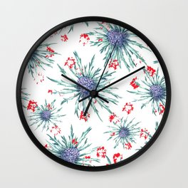 Screaming Thistle Wall Clock
