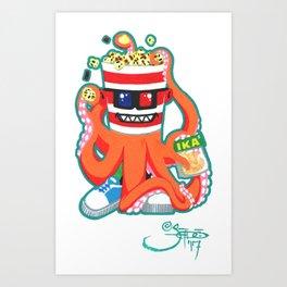 Hurricane Popcorn Kaiju Food Monster Art Print