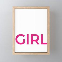 It's A Girl Baby Announcement Design, Pregnancy Tees Framed Mini Art Print